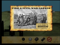 Start Screen - How to shoot a civil war cannon